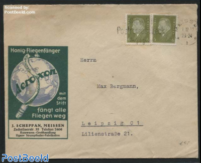 Letter from Meissen to Leipzig with advertising Aeroxon