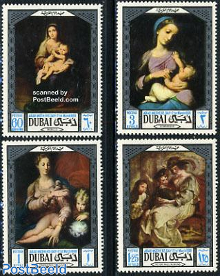 Mother day, paintings 4v