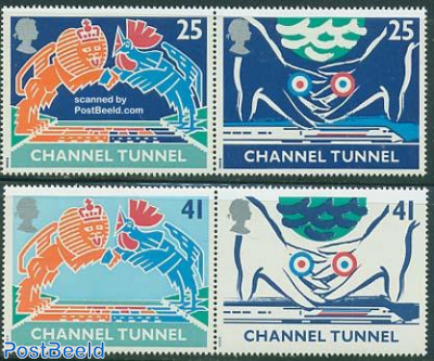 Channel tunnel 2x2v, joint issue with France