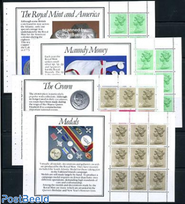 The Royal mint 4 booklet panes