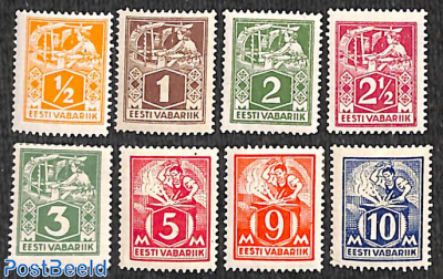 Definitives, handicrafts 8v
