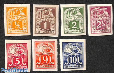 Definitives, handicrafts 7v imperforated