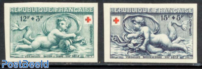 Red Cross 2v, imperforated