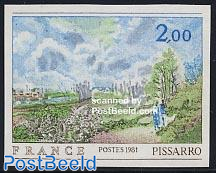 Pissarro painting 1v imperforated