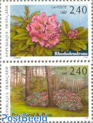 Stamp show, Flowers 2v (from s/s)