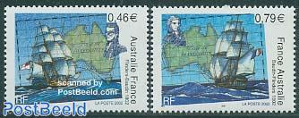 Flinder/Baudin 2v, joint issue with Australia
