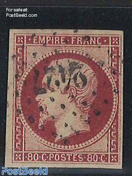 80c Carmine, used