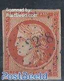 40c, red orange, used 22 8