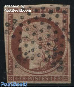 1Fr, Browncarmine, used