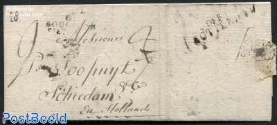 Letter from Boulogne to Schiedam (NL), via Rotterdam