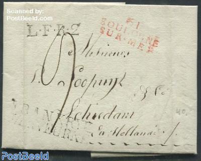 Folding letter from Blougne-sur-Mer to Schiedam, Holland