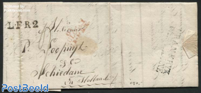 Letter from Boulogne to Schiedam