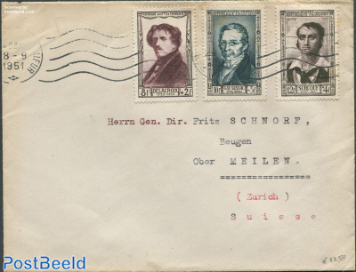Envelope from France to Zurich