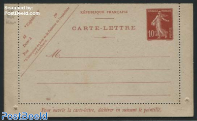 Card letter 10c red