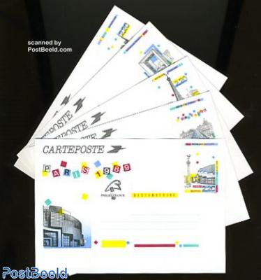 Postcard set Philexfrance (5 cards)
