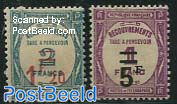 Postage due, overprints 2v