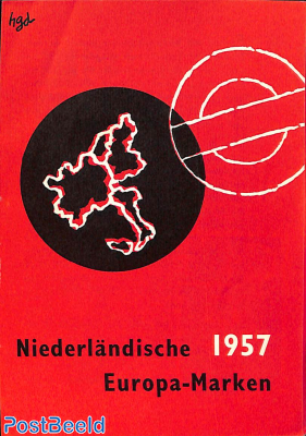 Original Dutch promotional folder from 1957, Europa, German language