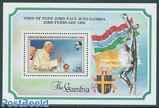 Visit of pope John Paul II s/s