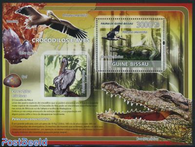 Crocodiles & birds s/s