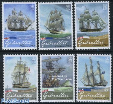 Horatio Nelson 250th birth anniversary 6v
