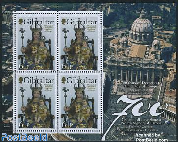 Our Lady of Europe 1v m/s (with 4 stamps)