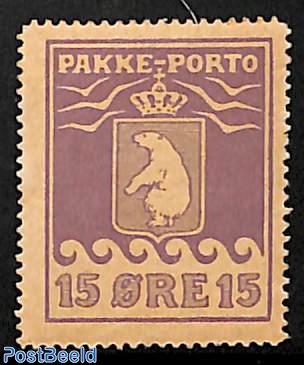 Pakke Porto 15o, Stamp out of set