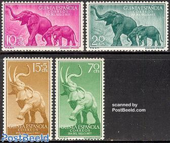 Elephants, stamp day 4v