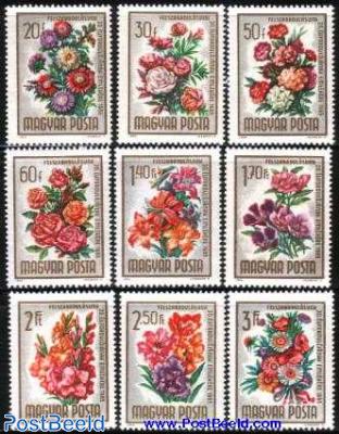 Liberation anniversary, flowers 9v
