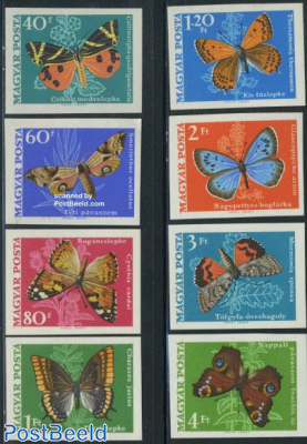 Butterflies 8v imperforated