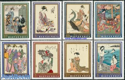 Japanese paintings 8v