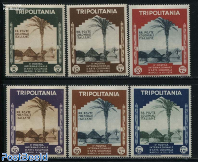 Tripolitania, Colonial Exposition 6v, WITHOUT AIRMAILS