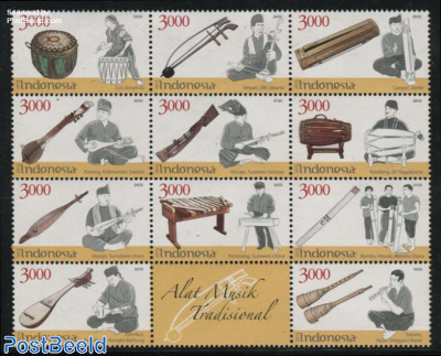 Traditional Music Instruments 11v