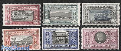 A. Manzoni 6v, original stamps, not originally used.