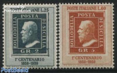 Sicilia stamp centenary 2v