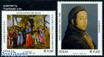 Paintings 2v (P. Annigoni, S. Botticelli)