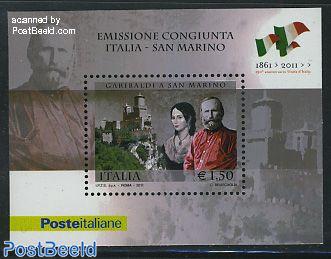 Garibaldi s/s, joint issue San Marino