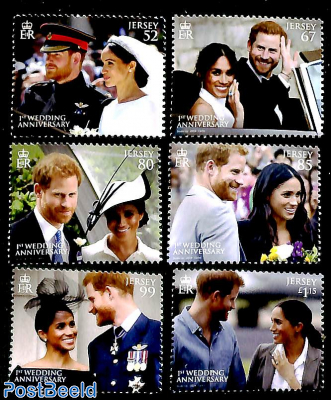 Prince Harry and Meghan Markle wedding anniversary 6v