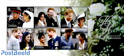 Prince Harry and Meghan Markle wedding anniversary 6v m/s