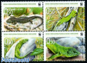 WWF, Green Balkan lizard 4v [+]