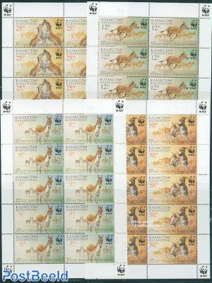 WWF, Donkeys 4 minisheets