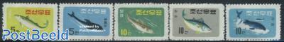 Fish & sea mammals 5v