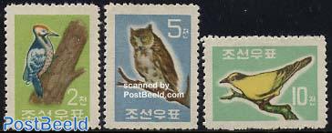 Definitives, birds 3v