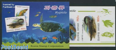 Reptiles imperforated booklet