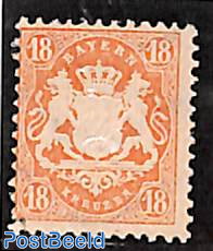 18Kr red, Stamp out of set