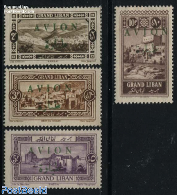 Airmail overprints 4v