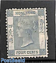 4c, perf. 14, WM Crown-CC, Stamp out of set
