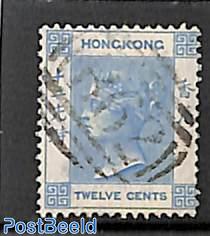 12c, lightblue, Stamp out of set