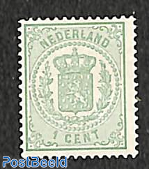 1c, Perf. 13.25, Large holes, Stamp out of set