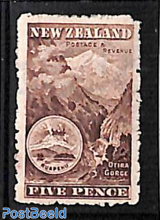 5p, WM NZ-star, Perf. 11, Stamp out of set