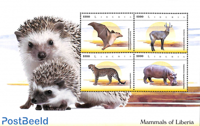 Mammals of Liberia 4v m/s